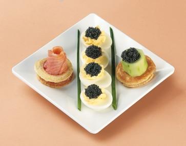 Kaviar-Arrangement Russisch