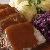 Rinderbraten in Burgundersauce